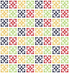 Quilt seamless pattern patchwork pattern vector
