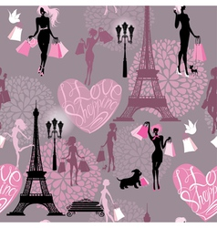 Seamless pattern - effel tower vector