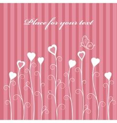 Retro love floral card vector