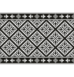 Seamless black-and-white gothic floral texture vector