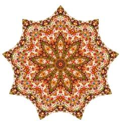 Triangular ornamental round lace vector