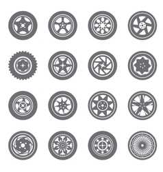 Set of wheel rims vector