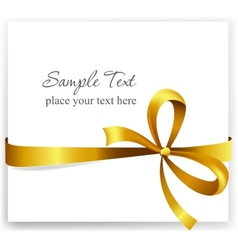 Gold gift bow with ribbons vector