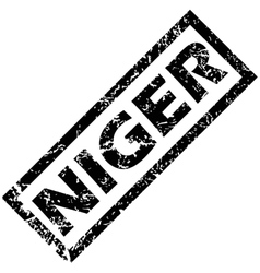 Niger stamp vector