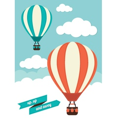 Hot air balloon graphic vector