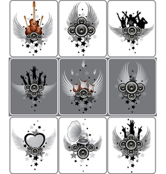 Set of musical designs vector