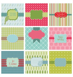 Set of beautiful cards vector