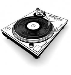 Dj gramophone vector