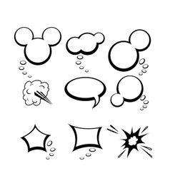 Set of comic style speech bubbles vector