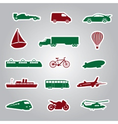 Means of transport icon stickers eps10 vector