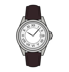 Business style hand watches color vector