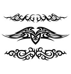 Set of tattoo design elements vector