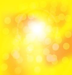 Centered yellow orange summer sun light burst vector