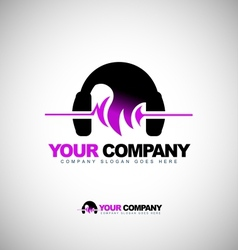 Music headphones logo vector