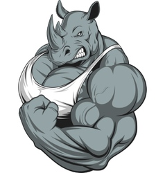 Strong rhinoceros vector