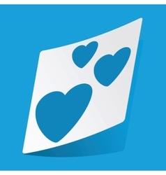 Love sticker vector