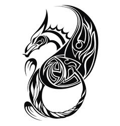 Dragon tatoo vector