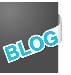 Right side sign blog vector