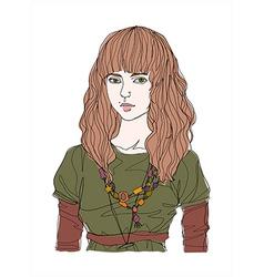 Portrait of woman vector