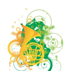 Trombone graphic vector