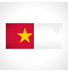 Envelope with vietnamese flag card vector