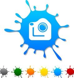 Photo blot vector