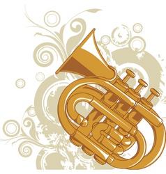 Jazz horn graphic vector
