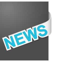 Right side sign news vector
