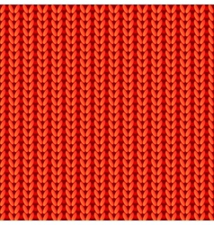 Red knitted seamless pattern vector