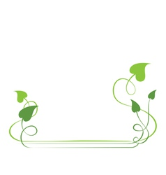 Green foliate elements for design vector