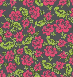 Flower seamless pattern rose ornament background vector