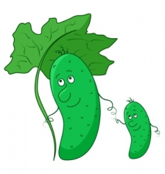 Cucumber parent and baby vector