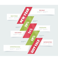 Big sale christmas ball sticker tags with sale 20 vector