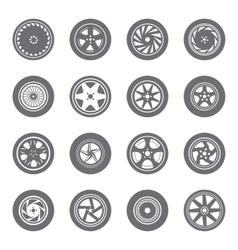 Set of wheel rims vector
