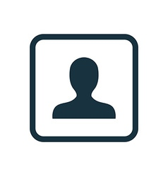 Profile icon rounded squares button vector