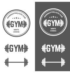 Gym powerlifting vector
