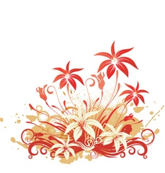 Tropical floral graphic vector