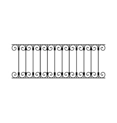 A balustrade vector