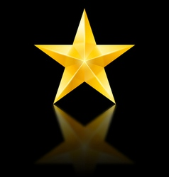 Yellow star on black vector