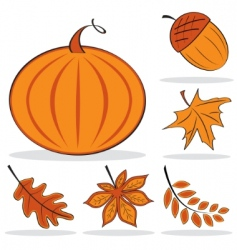 Autumnal icon set vector