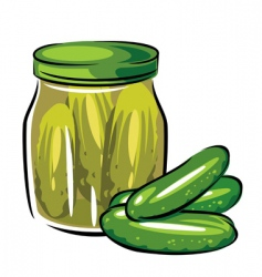 Canned pickles vector