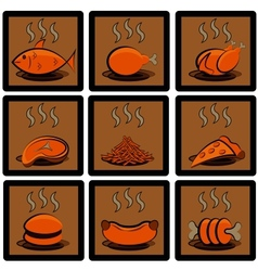 Meal icons set vector