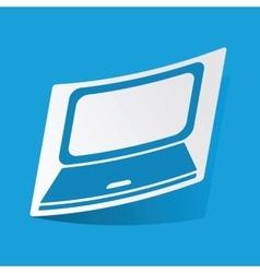Laptop sticker vector
