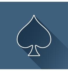 Game spade icon eps10 vector