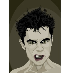 Angry man vector
