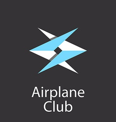 Airplane club logo emblem of airlift company vector