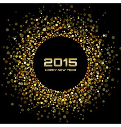Gold bright new year 2015 background vector