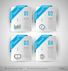 Business infographics template for web design vector