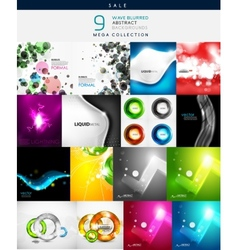 Various shaped abstract backgrounds vector