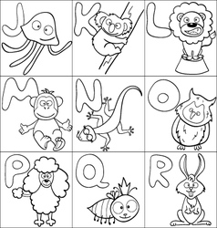 Coloring book with alphabet vector